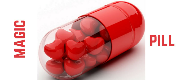 Pill With Hearts Inside
